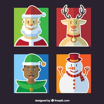 Awesome set of happy christmas characters