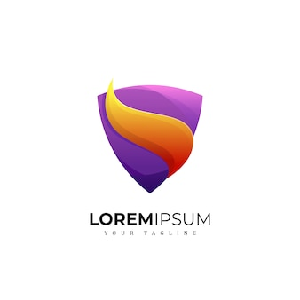Awesome shield logo premium