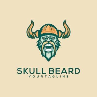 Логотип awesome skull премиум