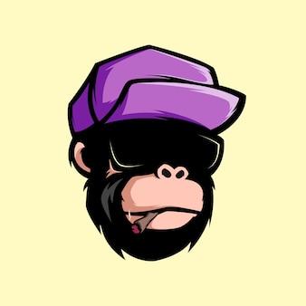 Awesome smoke monkey mascot
