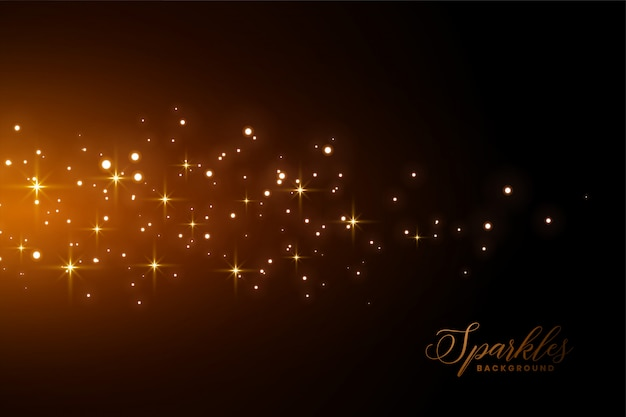 Awesome sparkles background with golden light effect