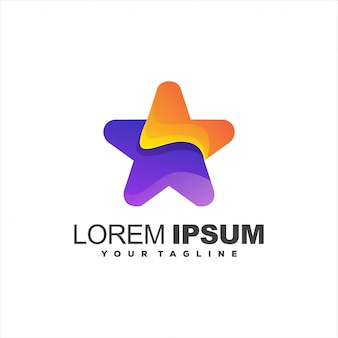 Awesome star gradient logo