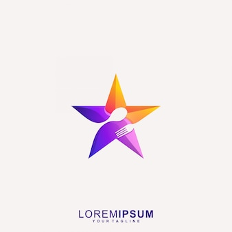 Awesome star restaurant logo vector