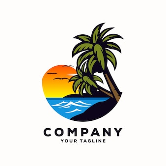 Awesome summer logo vector
