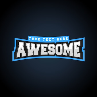 Awesome text power full typography