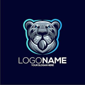 素晴らしい虎のマスコットのロゴのデザインイラスト