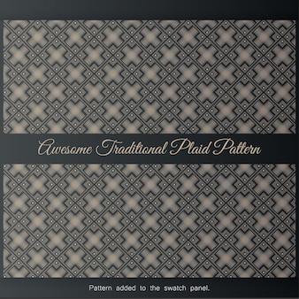Awesome traditional plaid pattern. background with seamless pattern in islamic style,