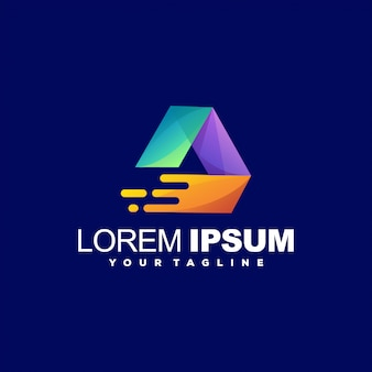 Awesome triangle gradient logo design
