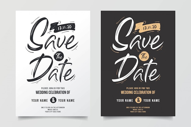Awesome typographic wedding invitations