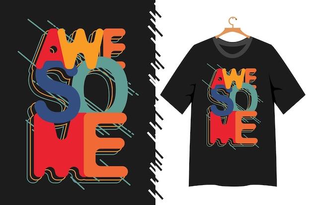 Потрясающая типографика для дизайна футболки
