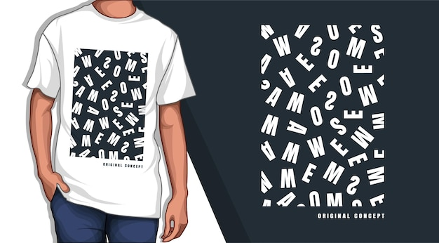 Потрясающий дизайн футболки с типографикой
