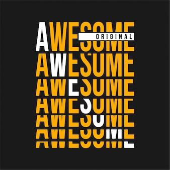 Awesome - typography