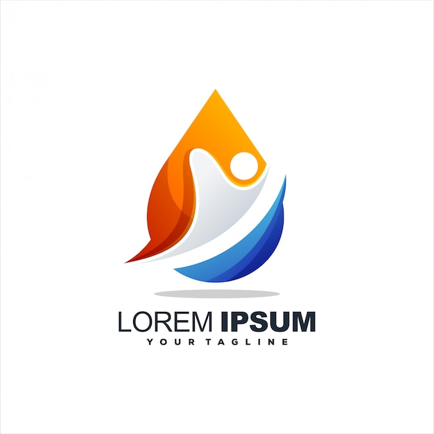Awesome water drop logo