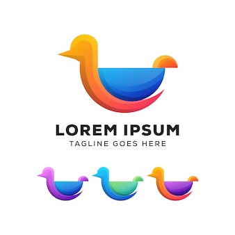 Awesome water duck logo template