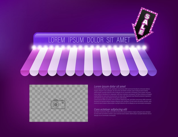 Awning shop template for promotion