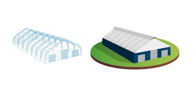 日除けターポリンテント仮設倉庫展示トンネルホール航空機格納庫