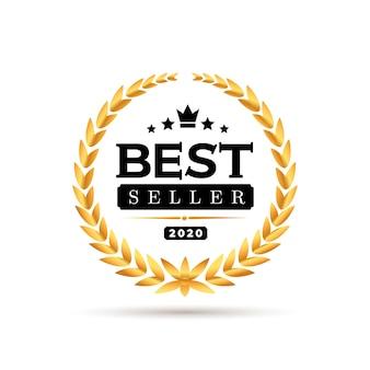 Awords best seller 배지 로고 디자인.