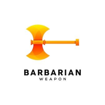 도끼 다채로운 로고 디자인 서식 파일