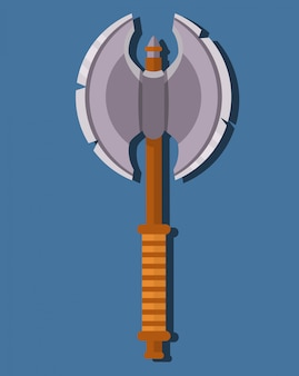 中世の棒ax。ゲームの武器の戦いのxの漫画。