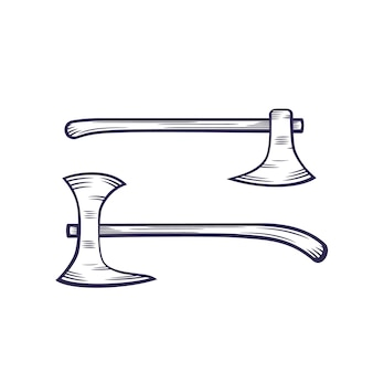 Axes isolated on white, vector