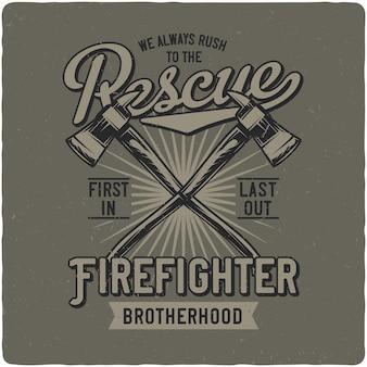 消防士のaxes