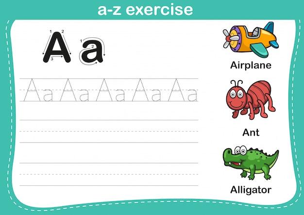 漫画の語彙イラストとアルファベットのaz運動