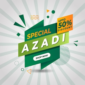Azadi sale vertical banner free vector