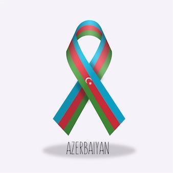 Azerbaiyan flag ribbon design