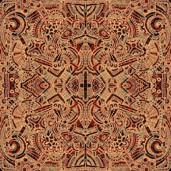 Aztec brown background
