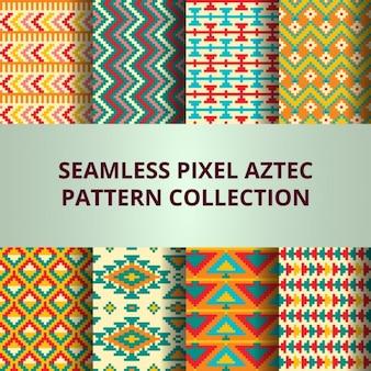 Aztec fantastic pixel pattern