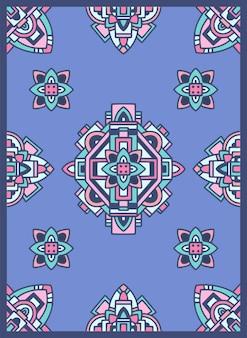 アステカナバホ族インドのカーペットパターングランジベクトルイラスト。
