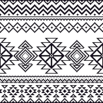 Aztec pattern, black and white