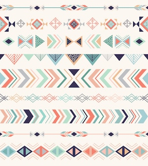 Aztec pattern, seamless pattern with geometric elements.