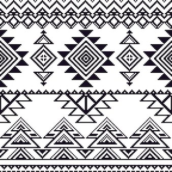 Aztec pattern, without color