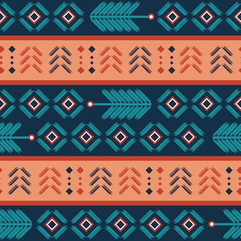Aztec seamless pattern with bohemian stripes abstract