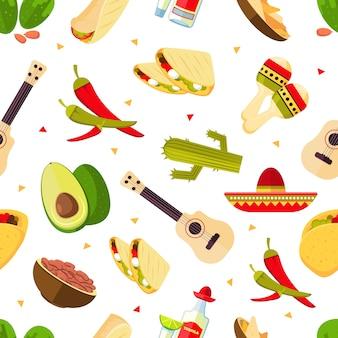 Aztec theme pattern