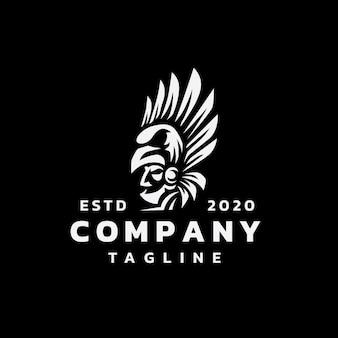 Aztec warior logo design