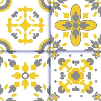 アズレージョポルトガルタイルの床パターン