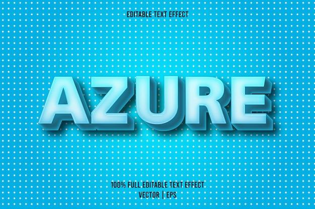 Azure editable text effect cartoon style