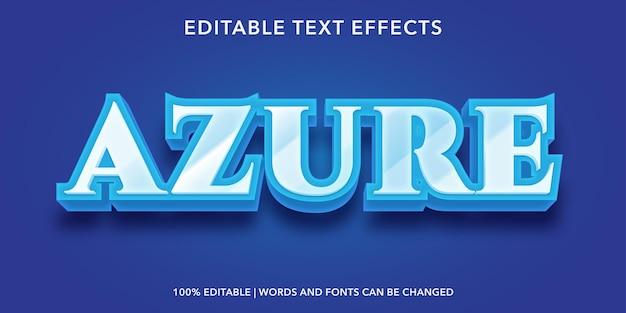 Azureの編集可能なテキスト効果 Premiumベクター