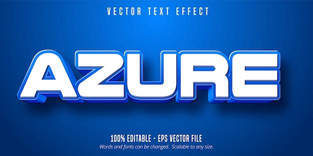푸른 색 텍스트, 파란색 편집 가능한 텍스트 효과