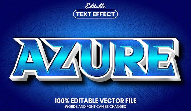 Текст azure, редактируемый текстовый эффект в стиле шрифта