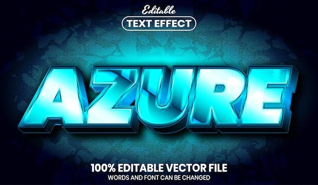 Azure 텍스트, 글꼴 스타일 편집 가능한 텍스트 효과
