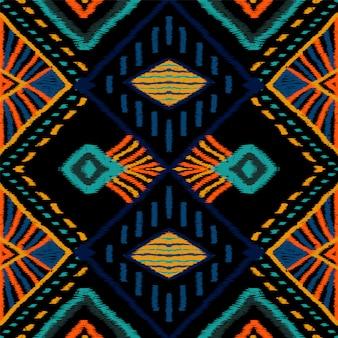赤い布のバティック。 azure tileシームレスパターン。ナバホカーペットリピートプリント。クリムゾンウズベクのグラフィックプリント。トレンディな絞りエスニック。