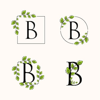 B 꽃 로고
