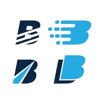 B initial logo vector