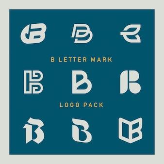 B letter logo set