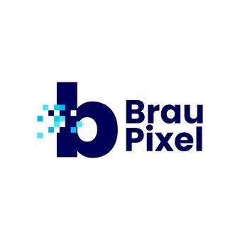 B文字小文字ピクセルマークデジタル8ビットロゴベクトルアイコンイラスト