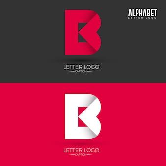 B letter origami style logo