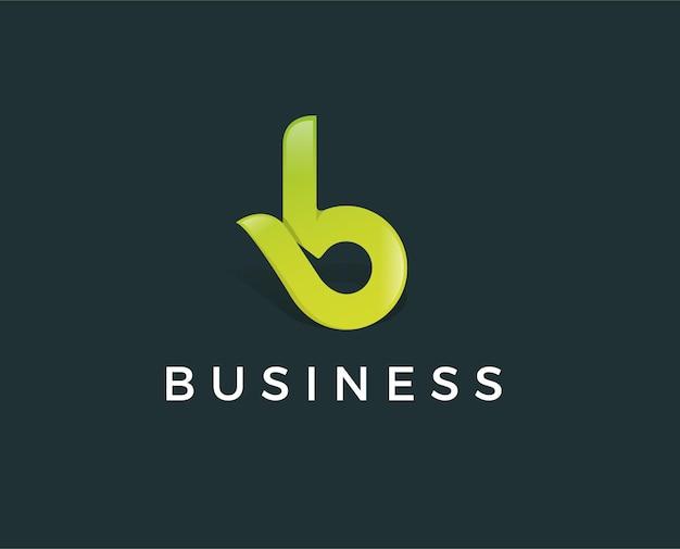 B 로고. b 문자 디자인